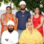 Sardar Singh with Family