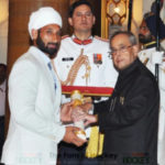 Sardar Singh Receiving Padma Shri Award