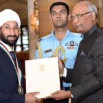 Sardar Singh Receiving Rajiv Gandhi Khel Ratna Award
