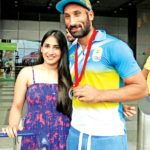 Sardar Singh with Ashpal Kaur Bhogal