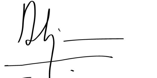 Sundar Pichai's signature