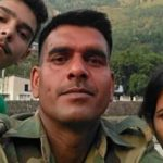 Tej Bahadur Yadav With His Wife Sharmila Devi And Son Rohit