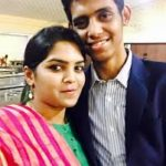 Veda Krishnamurthy with her Brother