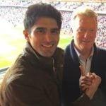 Vijender Singh with his manager, Frank Warren