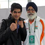 Vijendra Singh with his coach Gurubaksh Singh Sandhu