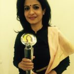 Anjana Om Kashyap with award