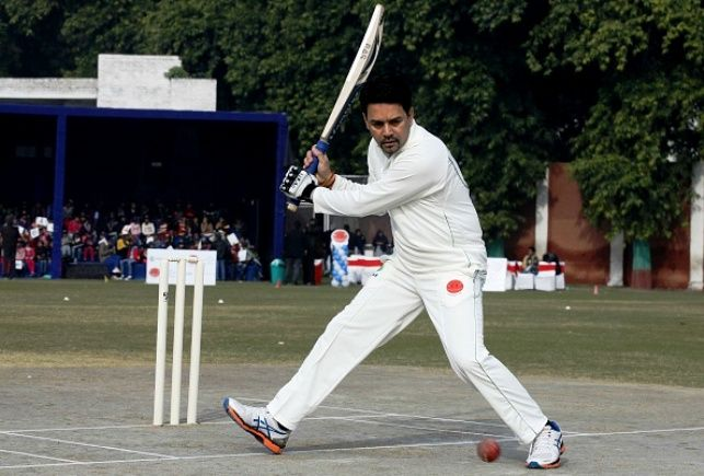 Anurag Thakur Playing In The Ranji Trophy