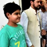 Anurag Thakur With His Elder Son Jaiaditya Thakur