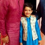 Anurag Thakur With His Younger Son Udayveer Thakur