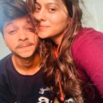 Aparna Dixit with her brother