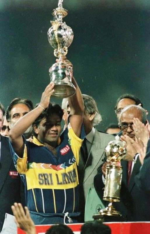 Arjuna Ranatunga Holding The 1996 Cricket World Cup