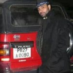 Babbu Maan with his Pajero car