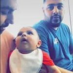 Badshah with his daughter
