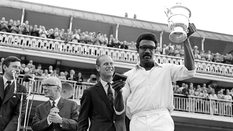 Clive Lloyd Holding The 1975 ICC Cricket World Cup