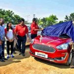 Dutee Chand Being Presented The Ford Aspire
