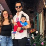 Esha Deol With Her Husband And Daughter