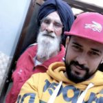 Garry Sandhu with his father