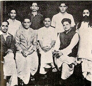 Group photo of people accused in the murder of Mahatma Gandhi
