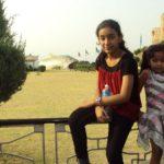 Hansika Shukla with her sister Vaibhavi Shukla