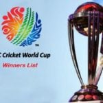 ICC Cricket World Cup Winners List (1975-2019)
