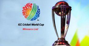 ICC Cricket World Cup Winners List