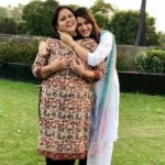 Isha Rikhi with her mother