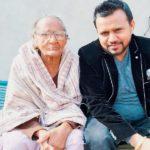 Karamjit Anmol with his mother