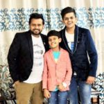 Karamjit Anmol with his sons