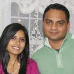 Miss Pooja with her husband
