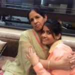 Miss Pooja with her mother