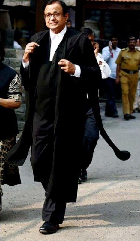 P. Chidambaram In Court