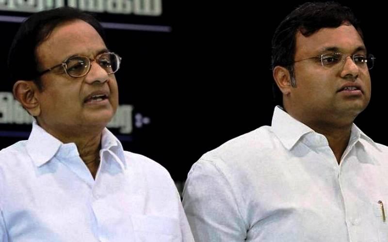 P. Chidambaram With His Son Karti Chidambaram