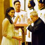 PV Sindhu Receiving The Padma Shri