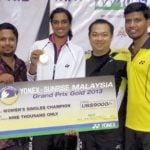 PV Sindhu won Maiden Grand Prix Gold title for her performance at Malaysian open 2013