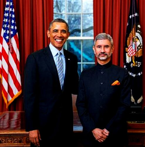 Subrahmanyam Jaishankar With Barrack Obama