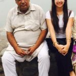 Sunanda Sharma with her father