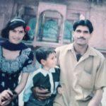 Tej Bahadur Yadav With His Wife And Son