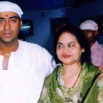 Veena Devgan with her son, Ajay Devgan