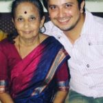 Abhijeet Kelkar with his mother
