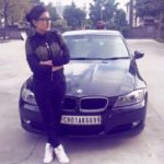 Anmol Gagan Maan with her BMW
