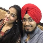 Asees Kaur with her brother