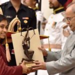 Dipa Karmakar Receiving Arjuna Award