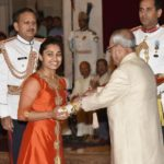 Dipa Karmakar Receiving Padma Shri