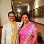 Fathima Babu with her husband