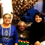 Faye D'Souza With Her Parents