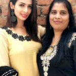 Heena Panchal with her mother