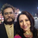 Kishori Shahane Vij with her husband