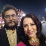 Kishori Shahane Vij with her husband