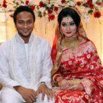 Marriage photo of Shakib Al Hasan and Umme Ahmed Shishir