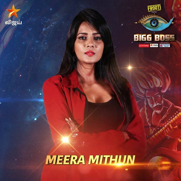 Meera Mithun as a wild card contestant in Big Boss 3 Tamil